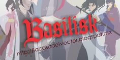 Trazado de vectores del anime basilik, que trata el conflicto entre El clan Iga y el clan Kouga.