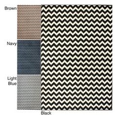 GIANT 5'x7' chevron rug in black, light blue, brown, or navy from Overstock for only $67!! This is going in my new house ASAP.