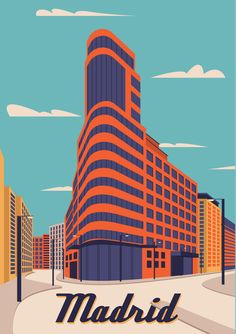 LuckyPosters is full of original and iconic wall art prints. We design and print every item that you buy from us. Poster On, Print Poster, Poster Wall, Madrid Skyline, Apartment Walls, Colorful Wall Art, Exhibition Poster, Vintage Travel Posters, Abstract Wall Art