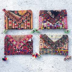 ethnic embroidered clutches