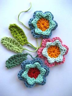 Spring Fever Easy Crochet Flowers - Free Pattern Crochet Flower Tutorial, Crochet Flower Patterns, Crochet Flowers, All Free Crochet, Easy Crochet, Spring Fever, Color Pop, Garland, Free Pattern