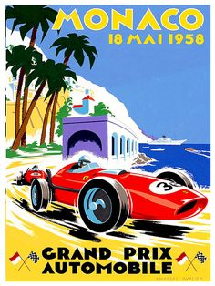Monaco Racing Travel Poster Monte Carlo Art Print by Blivingstons