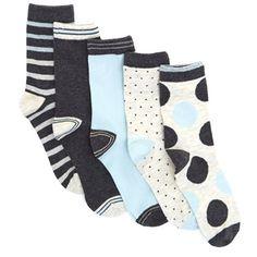 oatmeal Design Socks - Pack Of 5
