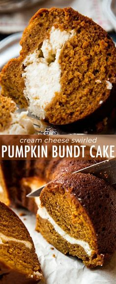 You have to try this pumpkin cream cheese bundt cake recipe! Both layers are irr… You have to try this pumpkin cream cheese bundt cake recipe! Both layers are irresistible and it's so easy! Recipe on sallysbakingaddic… Pumpkin Pound Cake, Pumpkin Bread, Pumpkin Cheesecake, Cheesecake Recipes, Dessert Recipes, Easy Pumpkin Cake, Pumpkin Spice, Keto Recipes, Cooking Recipes
