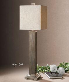 Uttermost Sandberg Wood Buffet Lamp 29576-1
