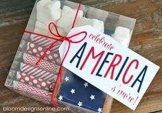 Celebrate America Smores - fun packaging for Memorial Day, 4th of July and Labor Day