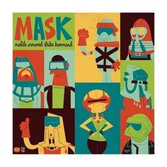 Retro illustration ... MASK!