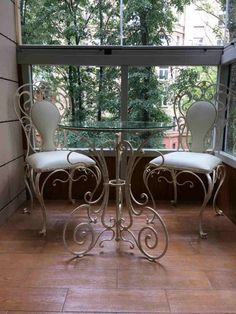 Iron Furniture, Furniture Plans, Wrought Iron Decor, Wood Mosaic, Porch Area, Getaway Cabins, Wood Ceilings, Metal Projects, Cafe Interior
