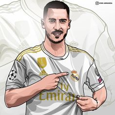 Football Art, Football Players, Hazard Wallpapers, Hazard Real Madrid, Real Madrid Football Club, Ronaldo Real Madrid, Baby Drawing, Soccer Stars, Eden Hazard