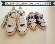 Dallas Cowboys Converse  www.etsy.com/shop/mizmarymacks