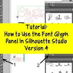 Step by step tutorial to use OTF font glyphs in Silhouette Studio version 4 Designer Edition. Tutorial is for PC Windows or Mac. Silhouette Fonts, Silhouette Design Studio, Silhouette School, Silhouette Curio, Silhouette Cameo Machine, Silhouette Portrait, Silhouette Studio Designer Edition, Silhouette Cameo Projects, Mayan Symbols