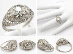 wm4840-platinum-antique-diamond-engagement-ring.jpg (846×632)