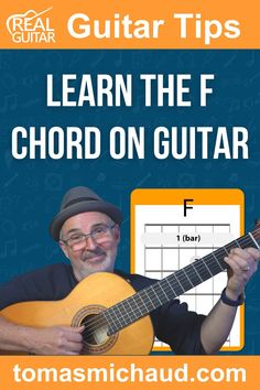 In this step-by-step guitar lesson, you are going to play a simple form of the F guitar chord that will get you up and running in no time. Then I'll show you how to use this as a stepping stone to play any version of the F chord on the guitar that you desire. Guitar Songs For Beginners, Basic Guitar Lessons, Piano Lessons, Learn Acoustic Guitar, Acoustic Guitar Chords, Survival Knots, Guitar Sheet Music, Guitar Tutorial, Guitar Tips