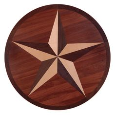 Hardwood floor with Texas Star pattern