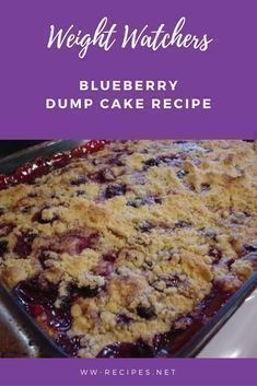 What a delicious dump cake! The blend of the lemon, blueberries, pineapple and walnut is wonderful! Weight Watchers Blueberry Dump Cake recipe Makes Weight Watcher Desserts, Weight Watchers Snacks, Weight Watcher Dinners, Weight Watchers Blueberry Dump Cake Recipe, Weight Watchers Kuchen, Blueberry Dump Cakes, Plats Weight Watchers, Weight Loss, Cake Recipes