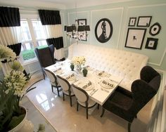 Glam Dining Room Design, Pictures, Remodel, Decor and Ideas