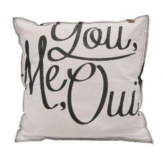 OVERSEAS Pillow You Me Oui 45 x 45 cm OFF WHITE