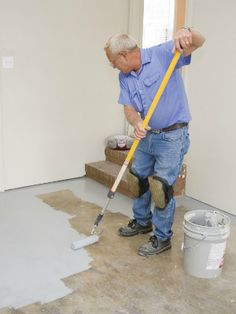 Painting your garage floor with epoxy paint is an easy way to not only give it a spruce, but also protect it from common spills and stains.
