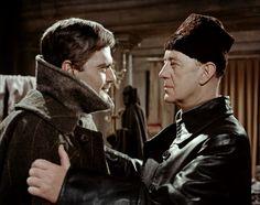 "Omar Sharif y Alec Guinness en ""Doctor Zhivago"", 1965"