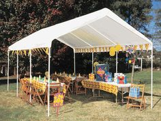 King Canopy 10 Foot x 20 Foot Universal Canopy with White Cover and Drawstrings
