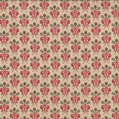 Moda French General Chateau Rouge Flatetta Prl Red
