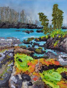When The Fog Rolled In Sheila Kernan Mixed Media in) at Mayberry Fine Art Winnipeg Canadian Art, Wilderness, Mixed Media, Presents, Fine Art, Contemporary, Landscape, Drawings, World