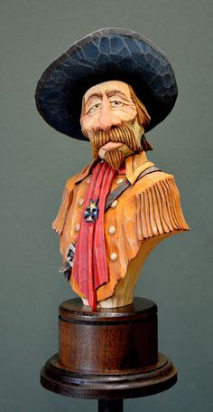 OutWestWoodCarving: Custer