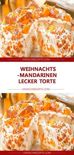 Weihnachts Mandarinen-Torte - Health and wellness: What comes naturally Berry Smoothie Recipe, Easy Smoothie Recipes, Easy Smoothies, Healthy Recipes, Homemade Frappuccino, Pumpkin Spice Cupcakes, Macaron, Ice Cream Recipes, Christmas Desserts