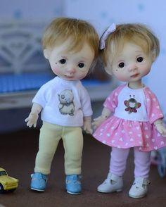 Славик и сестренка / Куклы BJD Nikki Britt, Никки Бритт / Бэйбики. Куклы фото. Одежда для кукол