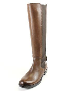 Franco Sarto Tahini Brown Leather Knee High Boots