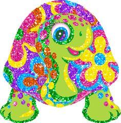 Lisa Frank Glitter Sticker