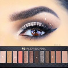 eyeshadow under the eye tutorial make up - eyeshadow under the eye tutorial Makeup Eye Looks, Eye Makeup Steps, Cute Makeup, Makeup For Brown Eyes, Eyeshadow Looks, Makeup Tips, Makeup Goals, Makeup Ideas, Makeup Tutorials