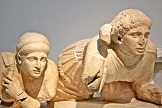 Two statues on the left end of the frieze from the Temple of Zeus in Olympia, Greece. I don't see these two women photographed that much, but they're actually probably my favorite part