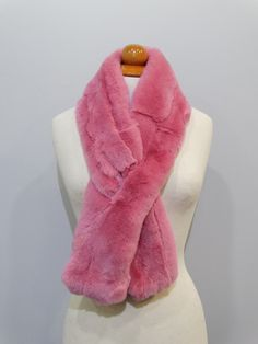 """Trendi"" Real Fur Scarf Rex Rabbit F861 #fur #pinkfur #rabbit #furscarf #fur_accessories #lovefur"