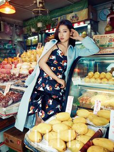 Park Shin Hye takes Miu Miu from the runway to the streets for Elle