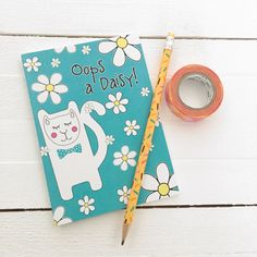 This incredibly cute cat notebook is printed in the UK on recycled paper and comes with plain pages, ready to capture your notes, doodles and daydreams. Each notebook is protected in a cellophane sleeve and will be delivered in a bubble protective mailer.