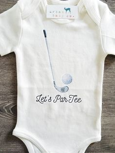 Let's ParTee Golf Organic Baby Onesie® Boy Onesie, Onesies, Baby Bodysuit, Baby Boys, Carters Baby, Baby Boy Gifts, Golf Baby, Body Suit Outfits, 5 W