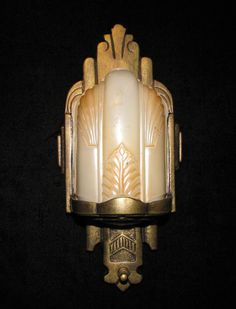 Vintage Art Deco Slip Shade Wall Sconce by davincisattic on Etsy, $265.00