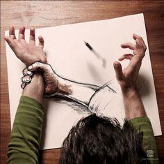La vita è una bozza: l'arte tra foto e disegno
