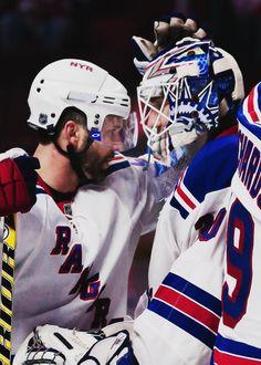 Martin St. Louis & Henrik Lundqvist • NY Rangers • oliverekman-larsson.tumblr.com