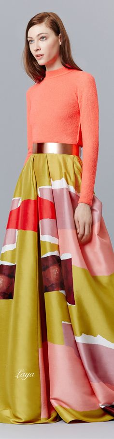 Roksanda Pre-Fall 2015 Fashion Show Modest Fashion, Hijab Fashion, Fashion Show, Fashion Design, Net Fashion, Runway Fashion, Fashion Women, Fashion Outfits, Fashion Trends