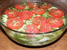 Karcsi főzdéje: Újhagymás uborkasaláta Hungarian Recipes, Potato Salad, Watermelon, Paleo, Potatoes, Vegetables, Fruit, Ethnic Recipes, Kitchen