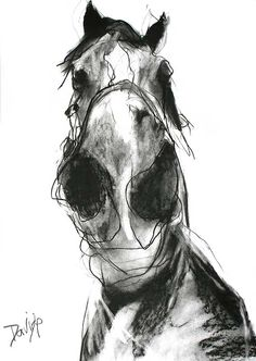 'Fliss' Open Edition Print by Valerie Davide' £35 mounted £80 Framed (Obeche Limed Wax or Matte Black Finish)