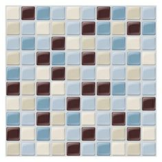 """6 Pack 9.85"""" x 9.85"""" Peel and Stick Maya Tiles    This could be an idea!"""