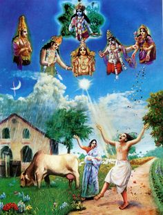 Krishna is called Deva Deva, Lord of all other lords or demigods who supply all necessities to man. Krishna Leela, Krishna Art, Krishna Images, Hare Krishna, Ages Of Man, Srila Prabhupada, Bhagavad Gita, Hindu Art, Gods And Goddesses
