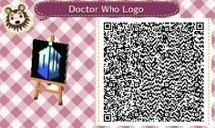 Animal Crossing New Leaf QR Code Doctor Who Logo