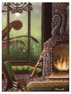 Slytherin Common Room by *Terrauh on deviantART