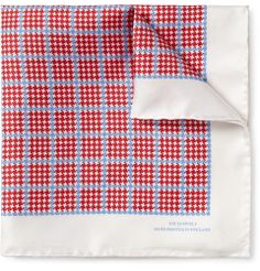 Turnbull & Asser - Check-Print Silk Pocket Square MR PORTER