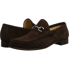 Massimo Matteo Hand Sewn Moccasin With Bit Brown Suede, Brown