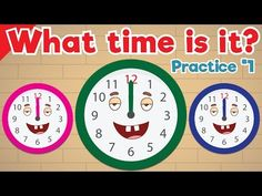 Learn to Tell Time #1 | Telling the Time Practice for Children | What's the Time? | Fun Kids English - YouTube